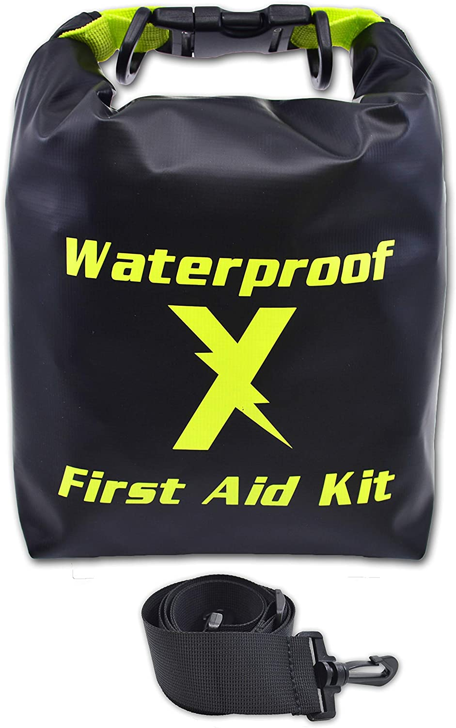 Lightning X Waterproof Hi-Vis First Aid Kit - 104 Pieces w/Dry Bag for Emergency, Survival, Camping, Boating, Hiking & Sports: Health & Personal Care