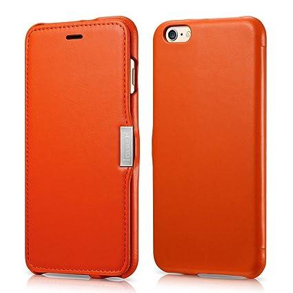 iphone 6 case orange leather