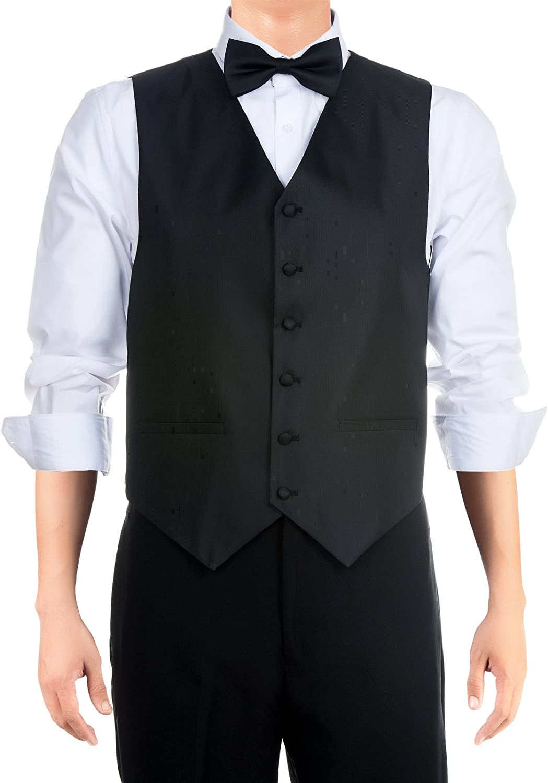 Bow Tie Gift Box Set Retreez Mens Paisley Textured Woven Waistcoat with Tie