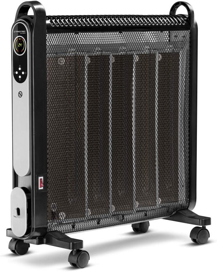 TROTEC W/ärmewellenheizer Konvektor TCH 2050 E Heizleistung 2.000 Watt IR-Fernbedienung Timer R/äume bis 24m/²//60m/³ Zusatzheizung leise LCD-Display 2 Heizstufen