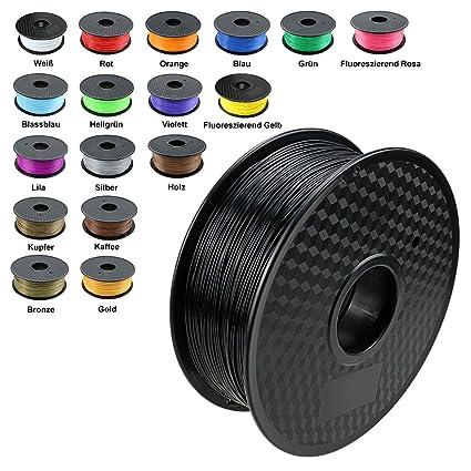 TIANSE Imprimante 3D Filament PLA 1.75 mm 1KG, Noir
