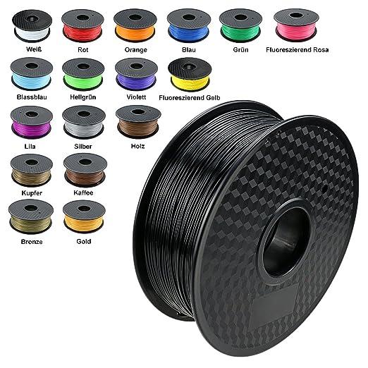 150 opinioni per TIANSE Nero filamento stampante 3d, 1,75 mm, precisione dimensionale +/- 0,03 mm