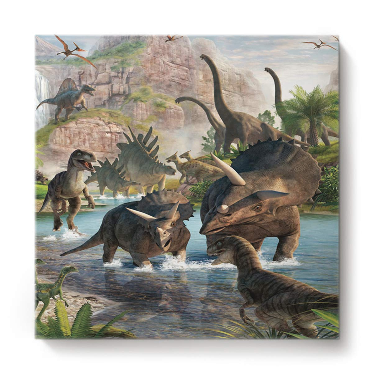 最新入荷 正方形キャンバスウォールアート 油絵 12 寝室 リビングルーム ホーム装飾 ホーム装飾 クールな3D恐竜 動物パターン 28 オフィスアートワーク 木製フレームで枠張り済み すぐに掛けられる 28 x 28 Inch 201810220NAAYAGYAGGSLEO00227NAAEYAG B07M8YBKJP 12 x 12 Inch|Dinosaur6yag1287 Dinosaur6yag1287 12 x 12 Inch, ミカミオンラインショップ:6f3ee69e --- itourtk.ru