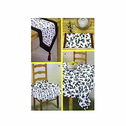 Amazon simplicity 9876 sewing pattern makes tablecloth table simplicity 9876 sewing pattern makes tablecloth table runner chair pads and placemats watchthetrailerfo