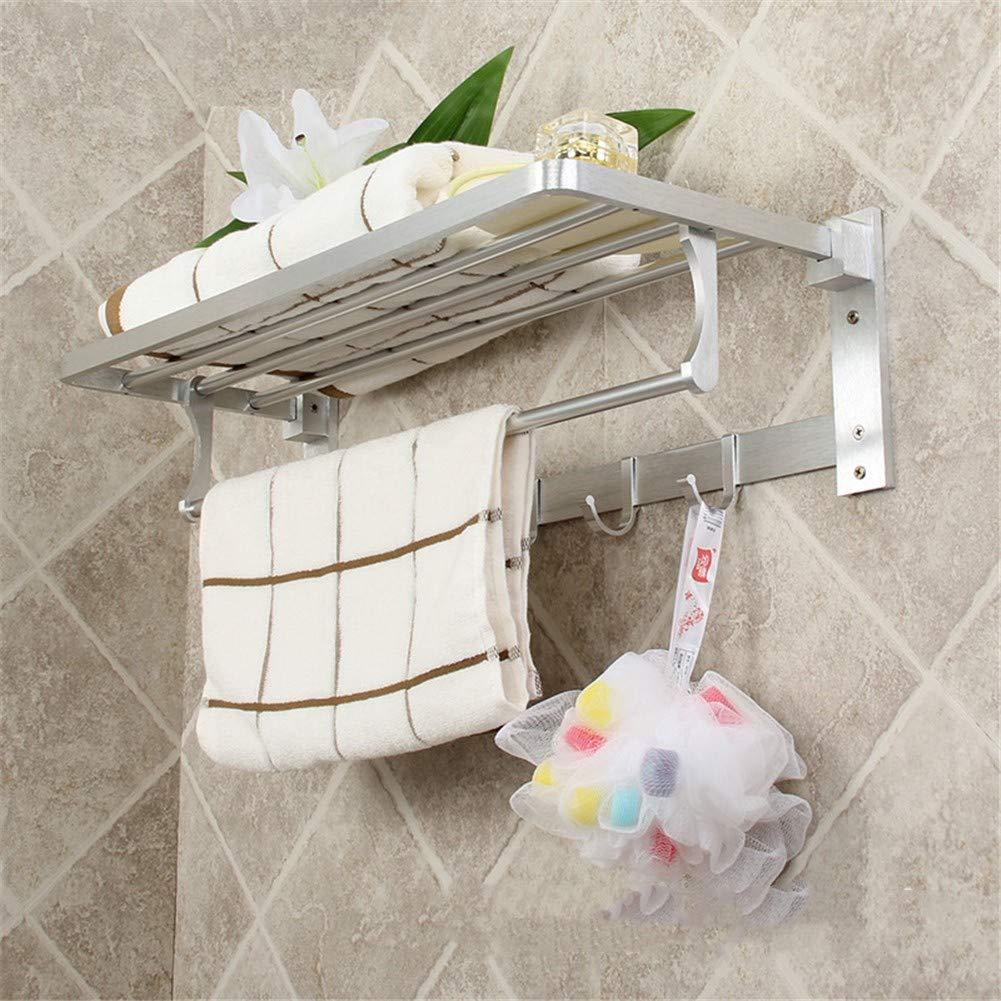 Raum Aluminium Handtuchhalter, Badezimmer Handtuchhalter, leicht und einfach zu installieren, metallischer Glanz
