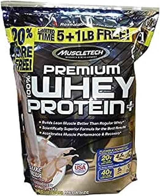 Muscletech Premium 100% Deluxe Vainilla Whey Protein Plus Polvo 2720 g