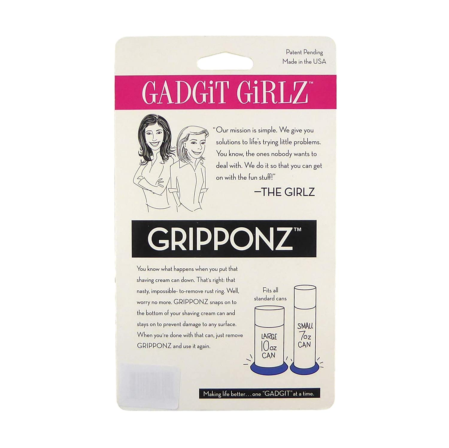 Prevents Shaving Cream Can Rust and Gunk Rings Pack of 4 Gripponz Blue
