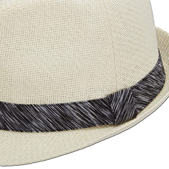 b4d184fe Amazon.com: Panama Jack Women's Fedora Hat - Lightweight Matte Toyo Straw,  1 3/4