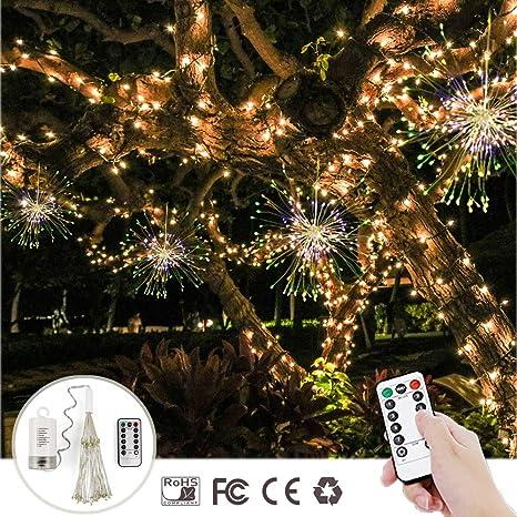 Decoración Colgar luces,Morbuy Creativo Cadena de Luces con Pilas IP65 Impermeable Alambre de Cobre 120 ...