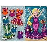 Melissa & Doug 19023 Mermaid Dress-Up Wooden Chunky Puzzle (9 pcs)