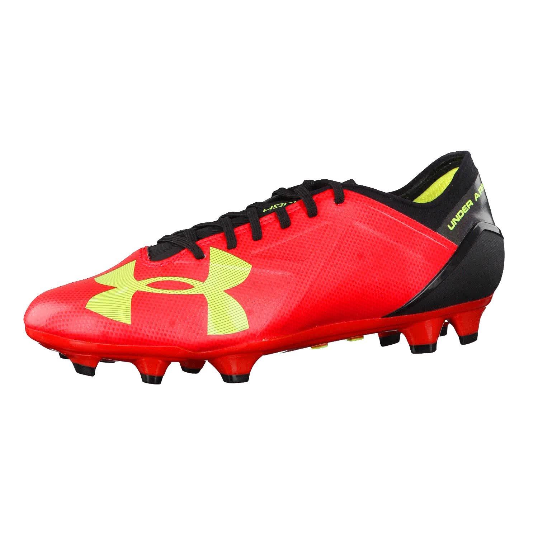 Under Armour?–?Scarpe da calcio Spotlight BL FG Uomo 1272300, Uomo, Rocket Red/High-Vis Yellow…