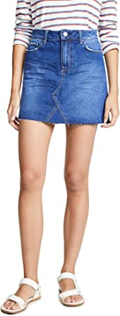 PAIGE Womens 5196E76-6201 Aideen Skirt W/Raw Hem Skirt - Blue