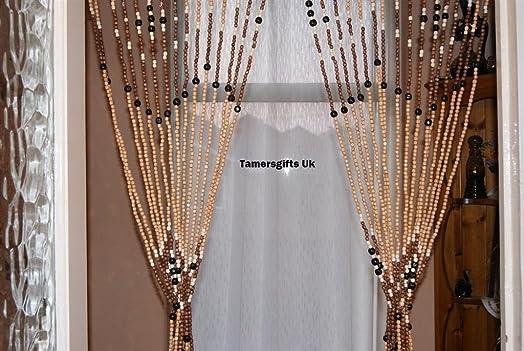 Wooden Bead Door Curtain: Amazon.co.uk: Kitchen & Home