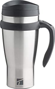 Trudeau Maison Drive Time Travel Mug, 18 oz, Stainless Steel