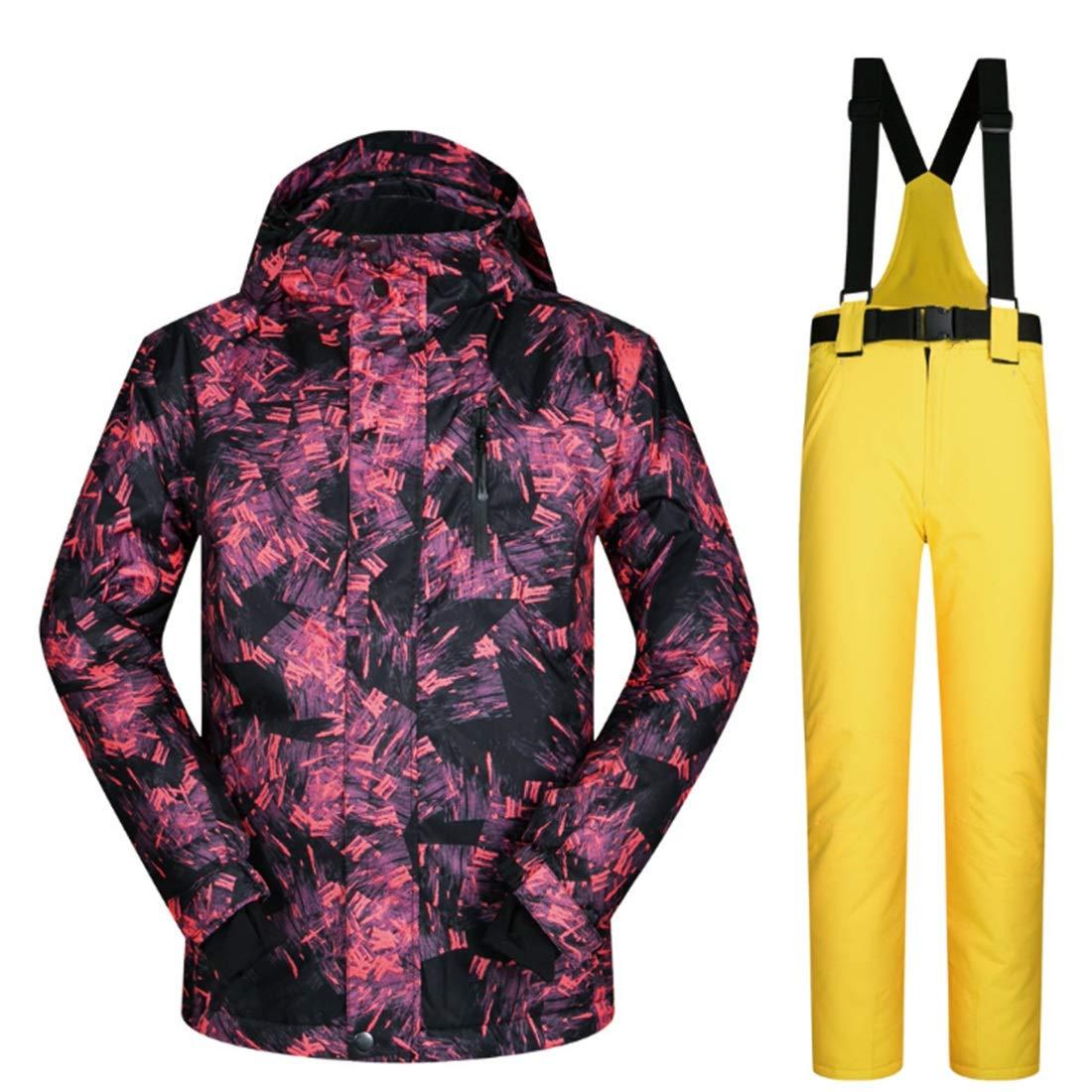 Cvthfyky Snowsuit da Uomo Winter Giacca da Sci e Pantaloni Pantaloni Pantaloni per la Neve da Pioggia Outdoor Hiking (Coloree   06, Dimensione   XXXL)B07MKP5RQZM 02 | Ad un prezzo accessibile  | Portare-resistendo  | Sale Italia  | Buon Mercato  | Molti stili  | Regalo  b0e2e1