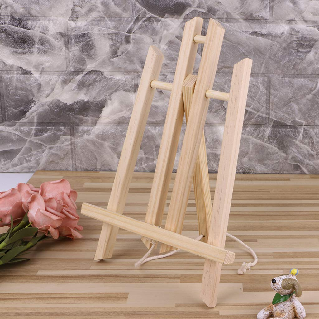 zrshygs Faltbare Mini Kiefer Trapezoid Tisch Staffelei Werbung Ausstellung Studio Malerei Rahmen 30 cm 1 St/ück