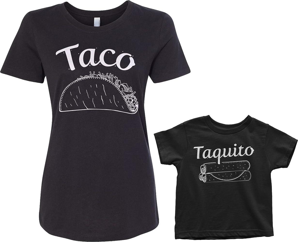 Amazon.com: threadrock taco & Taquito bebé & Mujer playera a ...