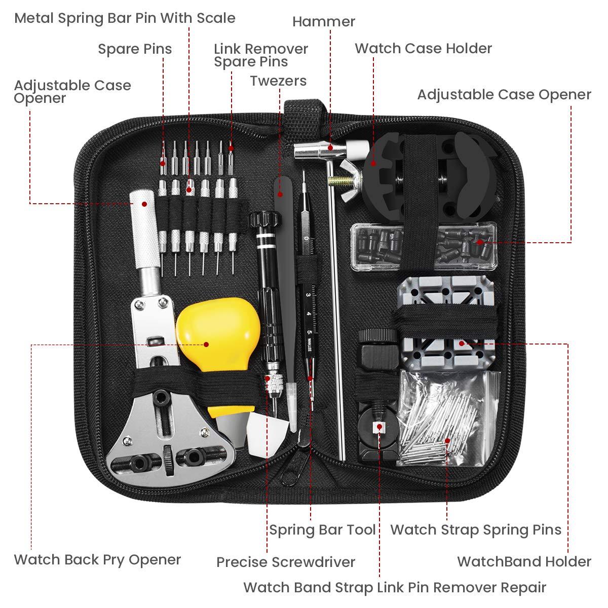 ASUMA 153 piezas Kit de reparación de relojes, juego de ...