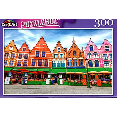 Market of Bruges, Belgium - 300 Pieces Jigsaw Puzzle: Toys & Games