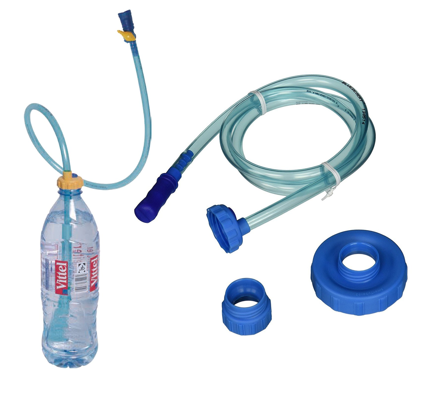 BlueDesert Smart Tube Hydration Drinking System for Water Bottles Hands Free During Activity