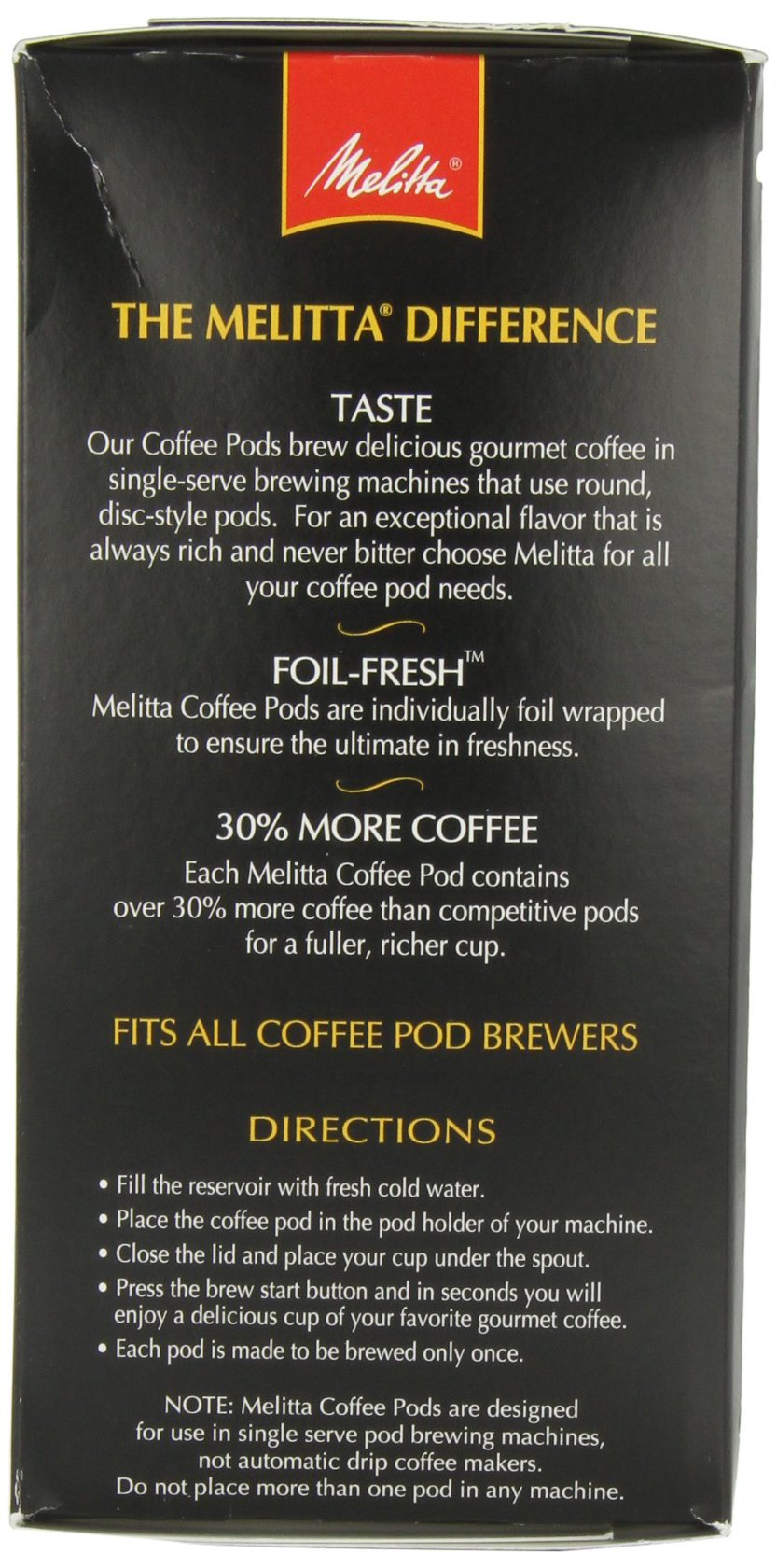 Melitta Love at First Sip Coffee Pods, 18 Count (Pack of 4)