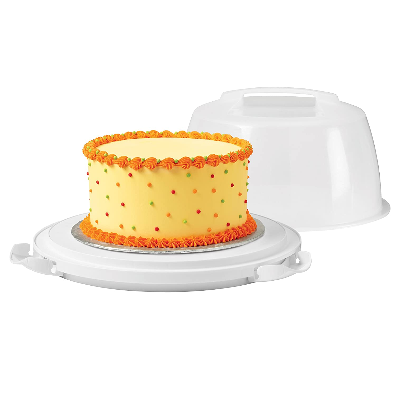 Amazon.com: WIlton Cake Carrier and Server with Locking Lid: Kitchen ...