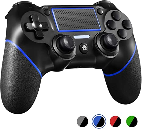 Controlador PS4 mando de juego Bluetooth inalámbrico Dualshock Gamepad para Playstation 4 Touch Panel Joypad con doble vibración, modo inmediato para compartir el joystick: Amazon.es: Electrónica