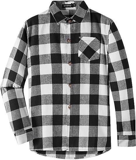 Spring/&Gege Boys Casual Plaid Short Sleeve Button Down Sport Shirts