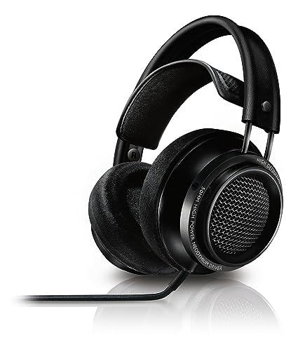 Philips Fidelio X2/00 - Auriculares de Diadema Abiertos (500 MW, 3.5 mm, OFC), Negro