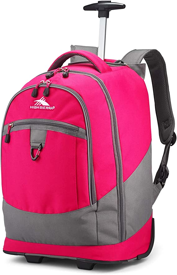 High Sierra Chaser Wheeled Laptop Backpack - College or High School Laptop Backpack