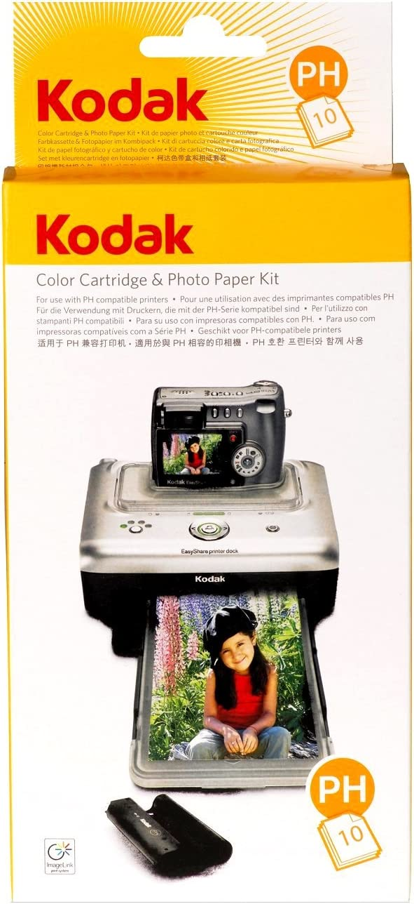 Kodak PH-160 EasyShare Printer Dock Color Cartridge & Photo Paper Refill Kit