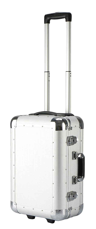 IQE-Storage Transport-Trolley TB-M6, Schaumstoffpolsterung, Spannschlö sser, LxBxH: 48 x 33 x 21 cm, Silber, Transportbox, Koffer, Kiste
