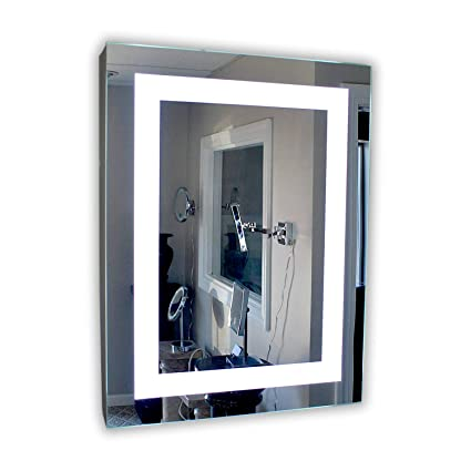Delicieux Mirrors And Marble Lighted Medicine Cabinet   24u0026quot; W X 36u0026quot; T    Lighted Door
