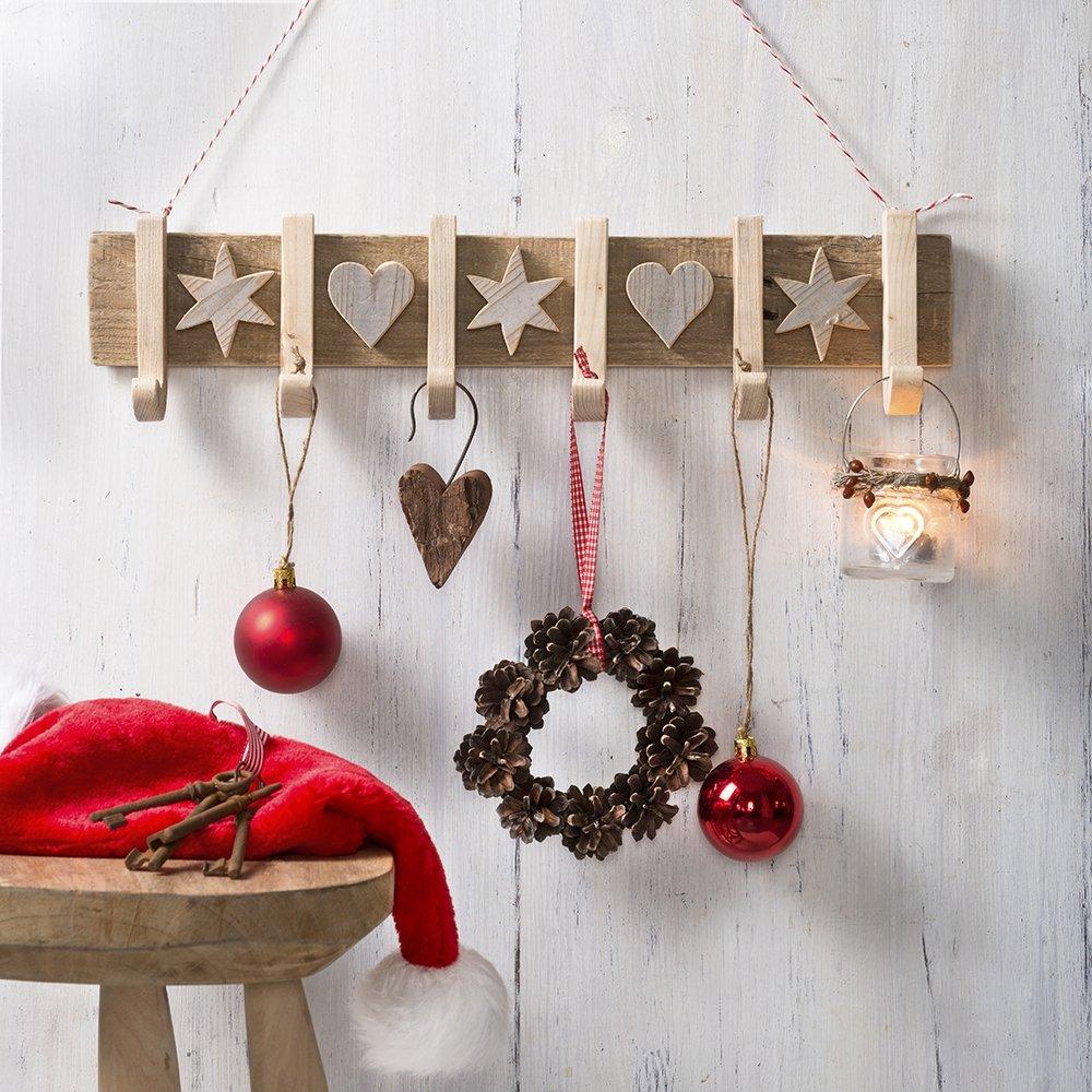 Holz Deko Weihnachten.Holzdeko Für Winter Weihnachten Amazon De Gerlinde