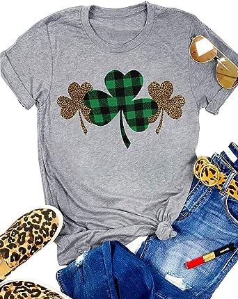 Leopard Print Shamrock Graphic T-Shirt