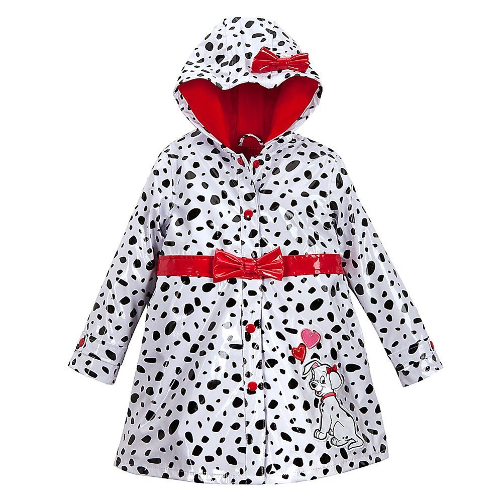 Disney Store 101 Dalmatians Rain Jacket//Hooded Raincoat Size XS 4 4T