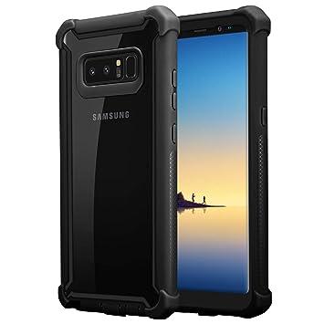 Cadorabo Funda para Samsung Galaxy Note 8 en Negro Aliso -2-en-1 ...