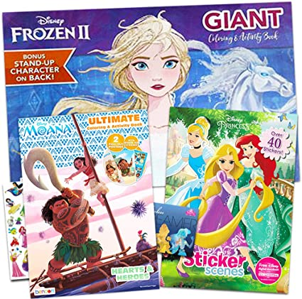 - Amazon.com: Disney Princess Coloring And Activity Book Super Set -- Bundle  Includes 3 Deluxe Disney Princess Coloring Books With Over 175 Stickers:  Toys & Games