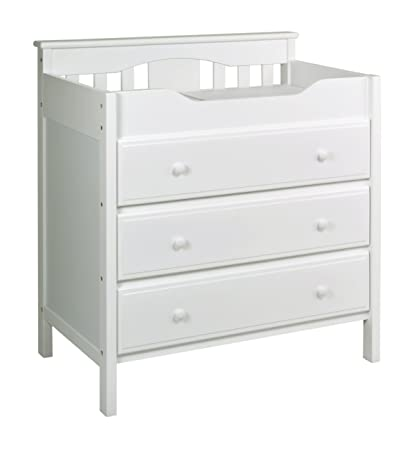 Marvelous Jayden 3 Drawer Changer Dresser In White