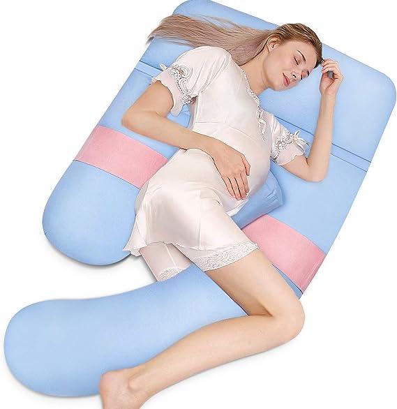 Schwangere Ganzkörper Schlafkissen U-Form Schwangerschaftskissen Bettwäsche DE