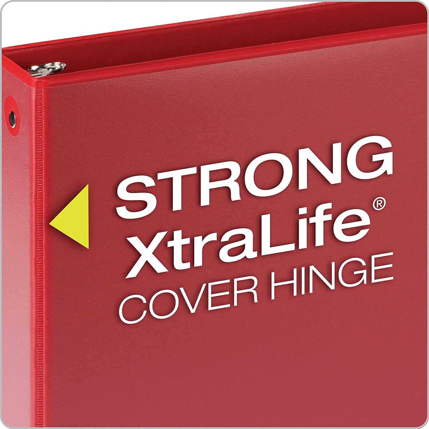 Cardinal 3 Ring Binders, 1.5 Inch, Round Rings, Holds 350 Sheets, ClearVue Presentation View, Non-Stick, Assorted Colors, 4 Pack (79550) : Office Products