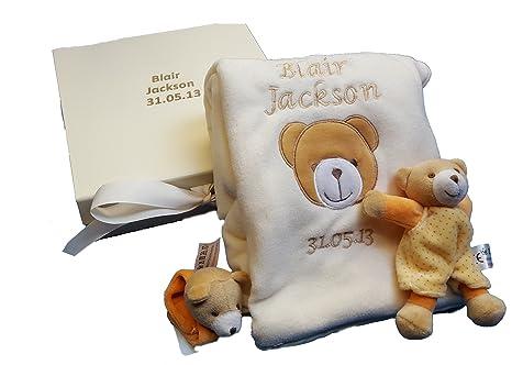 Personalizado Bordado Appliquéd manta para bebé con nombre recién ...