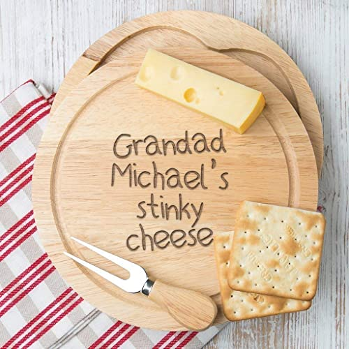 Personalised Cheese Board Set For Grandad Fathers Day Gifts Birthday From Grandchildren Grandson And