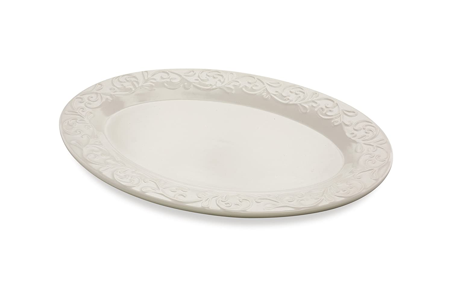 KOVOT Ceramic Oval Platter | Serving Platter | Measures 15 1/4