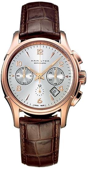 Hamilton Jazzmaster Auto Chrono Rose reloj de oro H32646555: Amazon.es: Relojes
