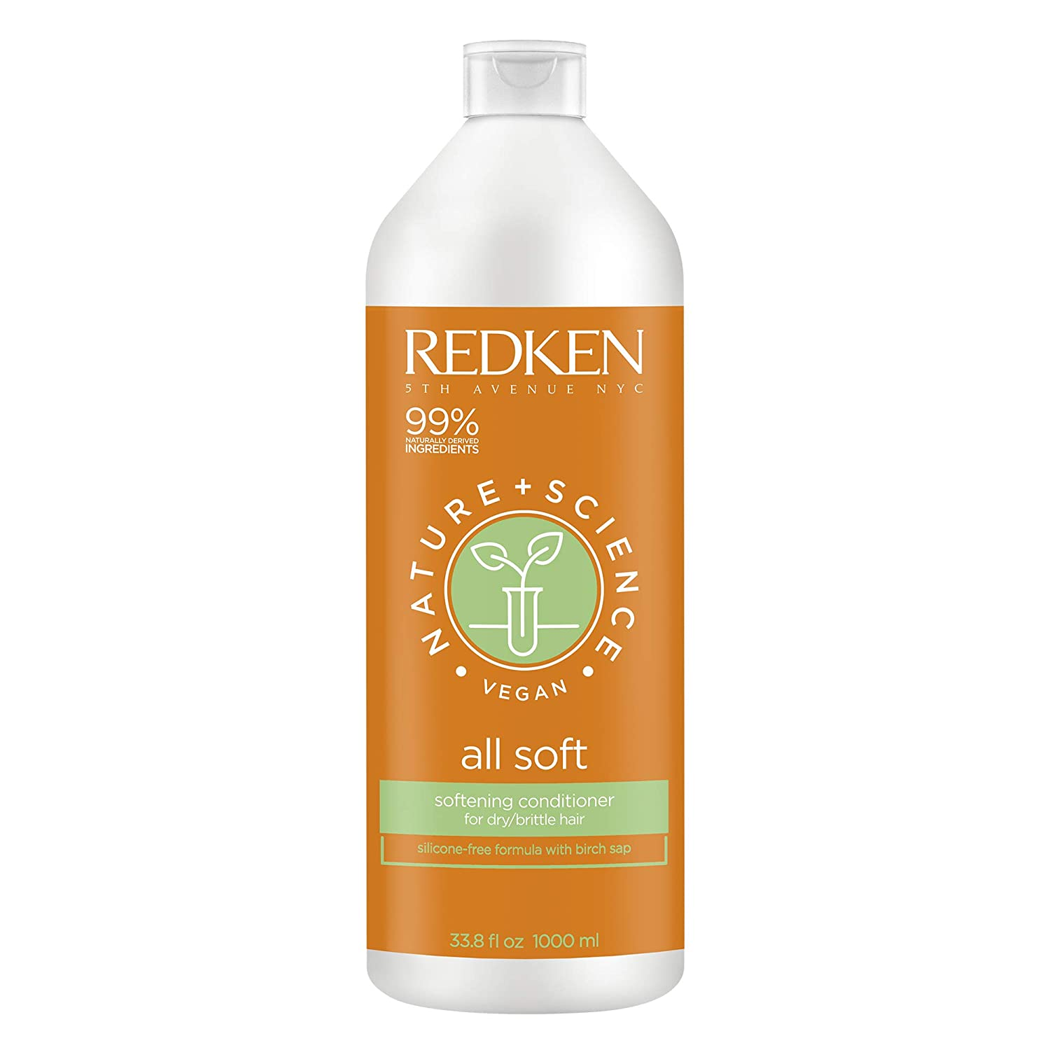 Redken Nature + Science All Soft Conditioner | For Dry Hair | Increases Manageability & Adds Shine | With Birch Sap | Vegan