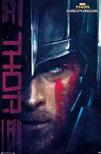 "Trends International Marvel Cinematic Universe Ragnarök-Thor Wall Poster, 22.375"" x 34"", Premium Unframed Version"