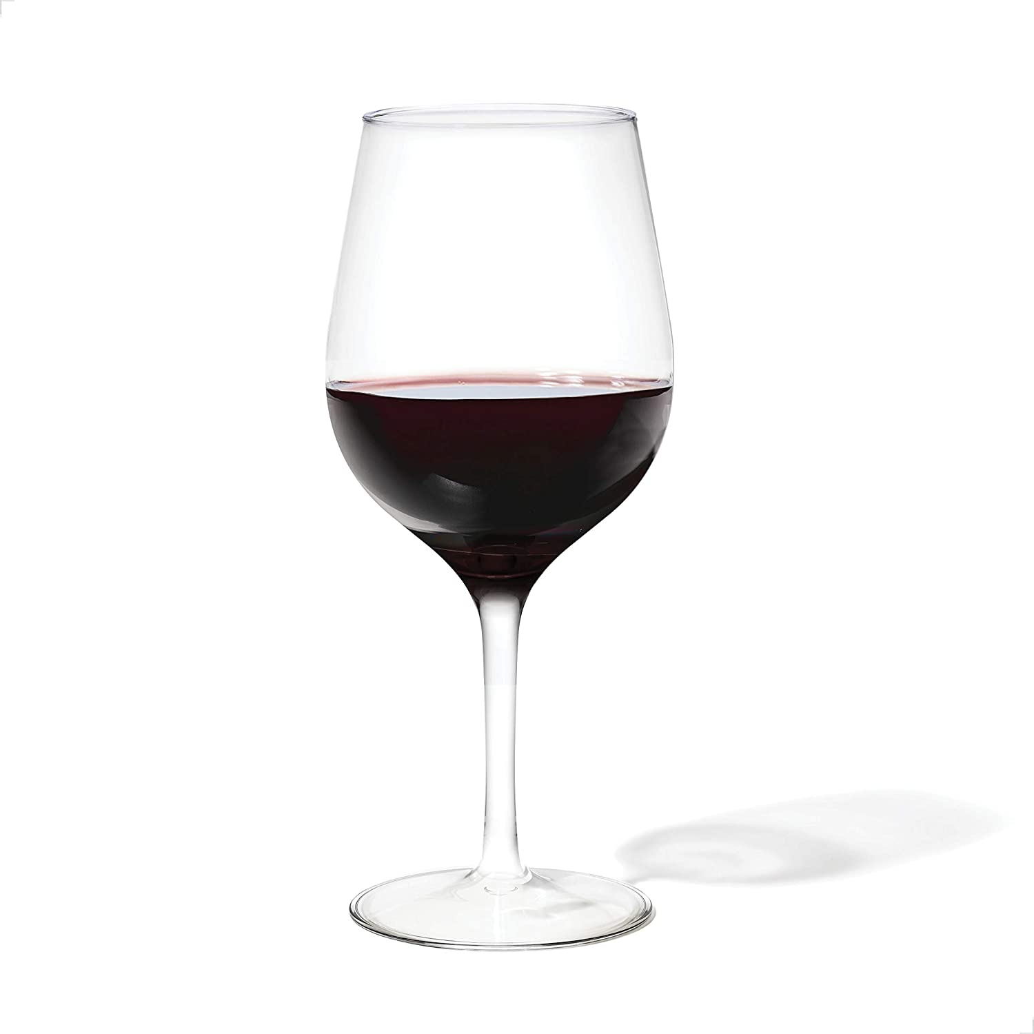 TOSSWARE 16oz Wine SET OF 4, Tritan Dishwasher Safe & Heat Resistant Unbreakable Plastic Cocktail Glasses