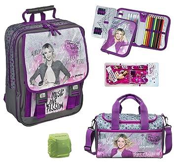 f645ea7d726a4 Disney Violetta großer Schulrucksack 9tlg. Federmappe gefüllt ...