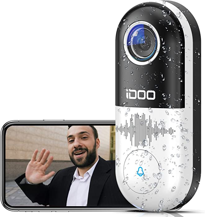 Video Doorbell WiFi,128GB 1080p HD Doorbell Camera Chime,2-Way Audio,Motion Detector,Easy Installation,Night Vision,Home Security,Requires Existing Doorbell Wires,Smart APP iOS/Android